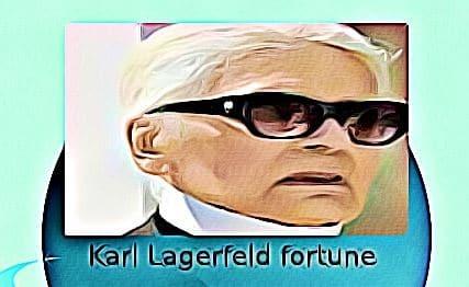 Karl Lagerfeld fortune