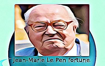 Jean Marie Le Pen fortune